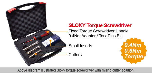 SLOKY Torque Screwdriver with Milling Cutter Kit