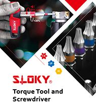 The latest version of SLOKY Torque Tool and Screwdriver catalog (CAT07) is released
