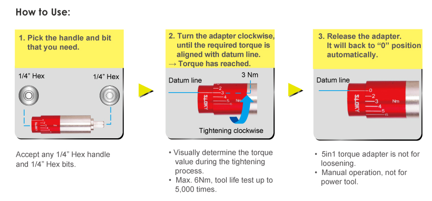 5IN1 Multi-Torque Adapter _ How to use